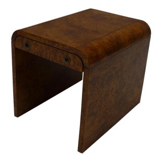 Milo Baughman for John Stuart Burl Wood Nightstand