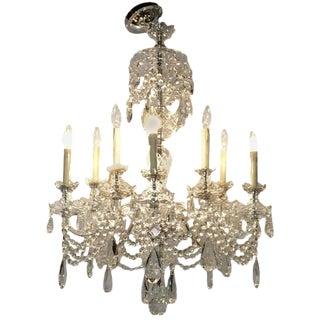 Georgian Style Ten Light Cut Crystal Chandelier