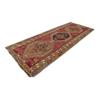 Vintage Turkish Handmade Wide Runner Kilim Rug - 4′8″ × 12′4″