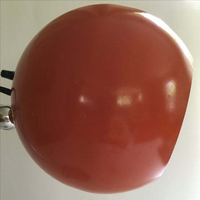 Orange Vintage Mid-Century Eyeball Lamp - Image 8 of 8
