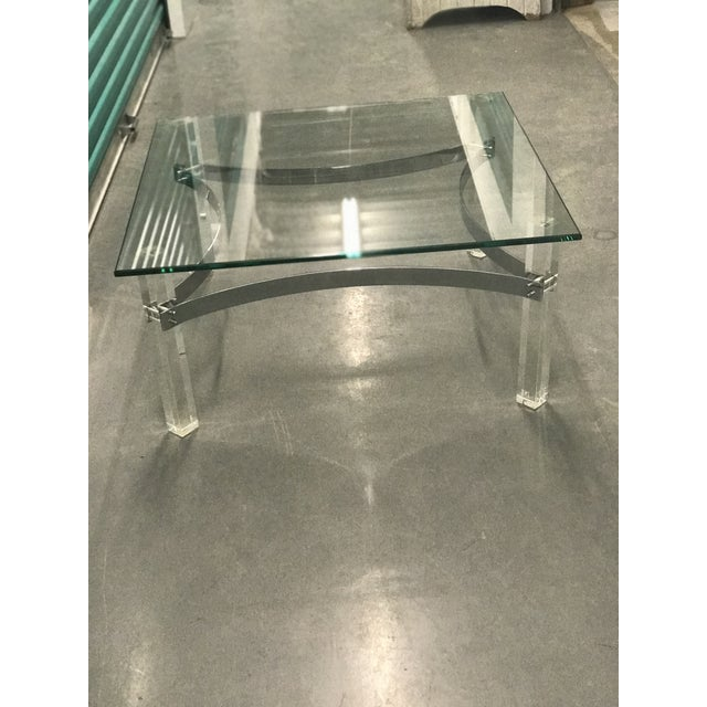 Mid-Century Lucite & Chrome Coffee Table - Image 3 of 6