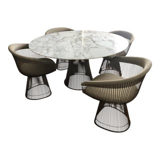 Warren Platner for Knoll Dining Table & Chairs- Set of 5