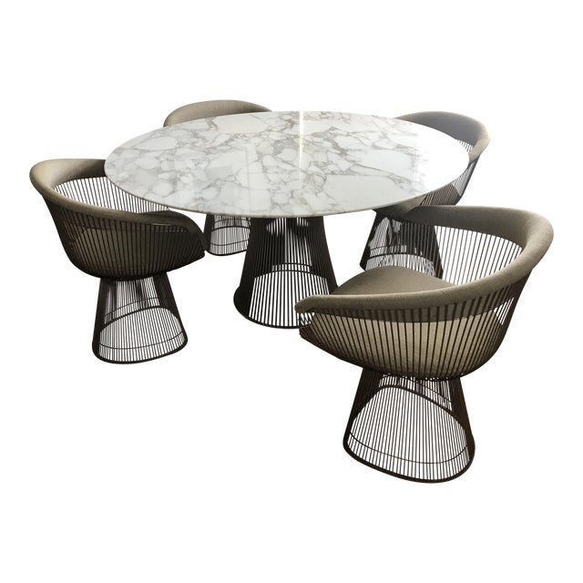 Warren Platner For Knoll Dining Table Chairs Set Of 5