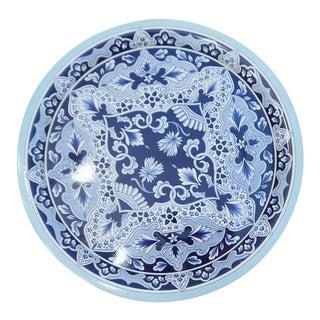 Vintage Delft Blue Tin Serving Tray