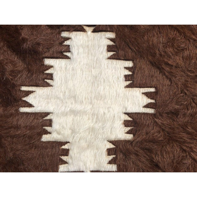 Image of Vintage Turkish Angora Tulu Rug