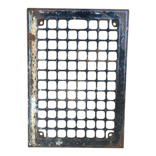 Early 1900s Distressed Industrial Grate Plate Wall Decor