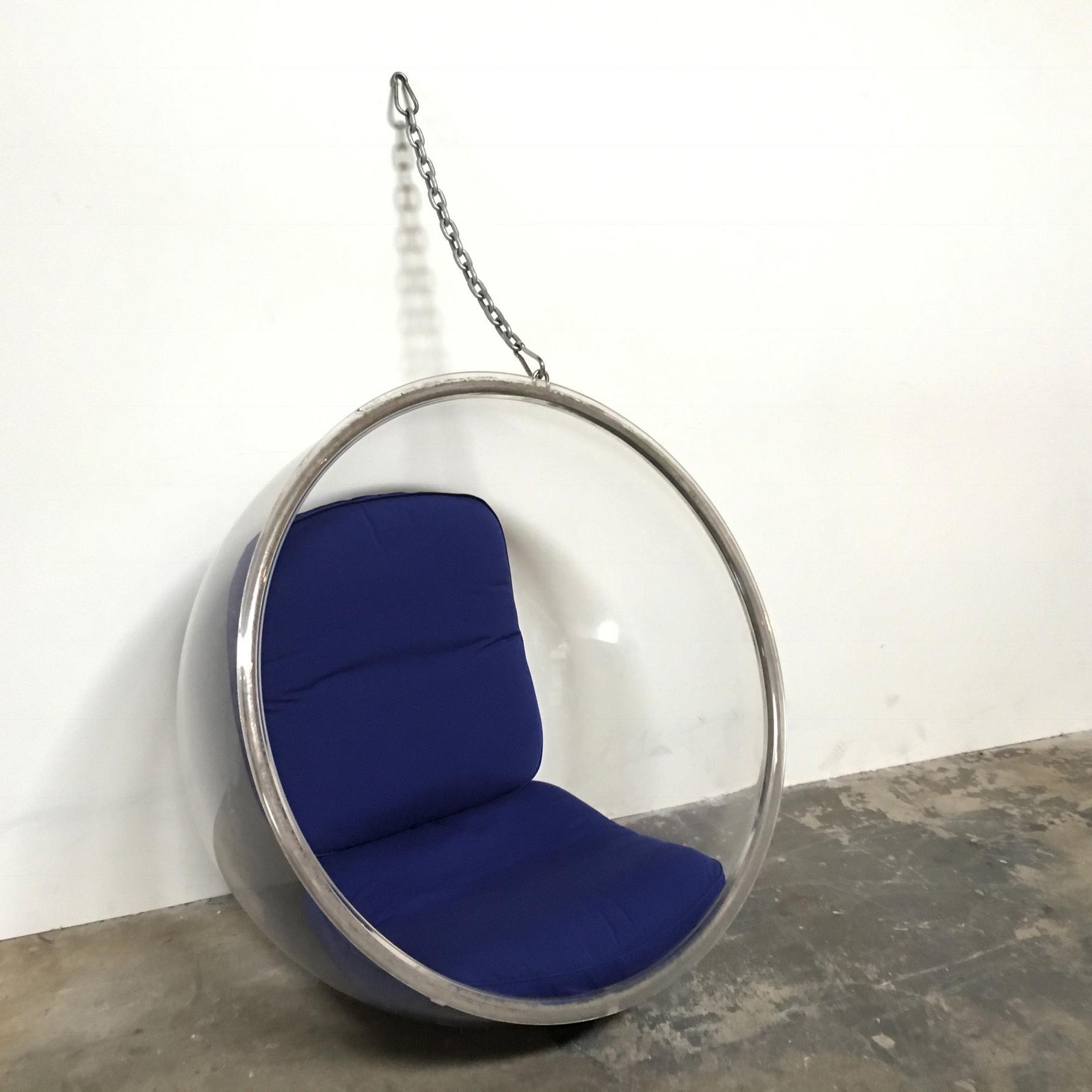 eero aarnio plushpod hanging bubble chair image 2 of 8
