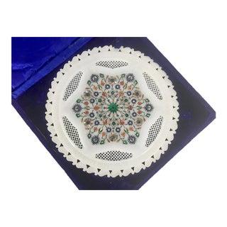 Marble Pietra Dura Semi Precious Stone Tray
