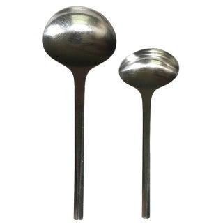 Georg Jensen Stainless Steel Serving Spoons - Pair
