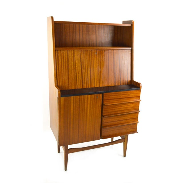 Modern Danish Style Teak Cabinet With Drop Front - Image 2 of 10