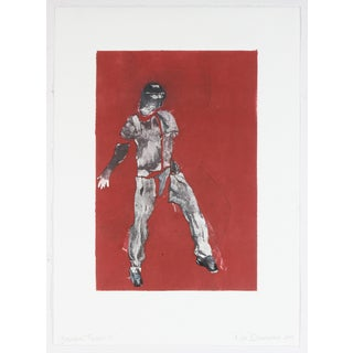 """Dancing Figure I"" Monoprint by Rob Delamater"