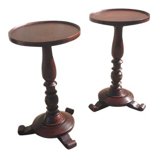 Pair of Early 19th Century Jamaican Regency Mahogany Occasional Tables