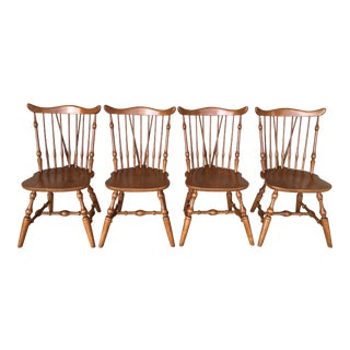 Windsor Brace Back Maple Side Chairs - Set of 4