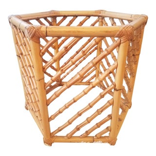 Hexagon Bamboo Side Table Base