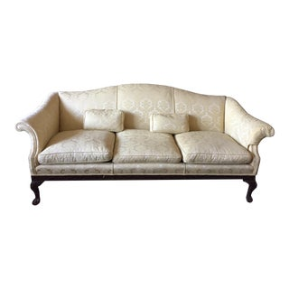 Vintage Damask Ivory Couch