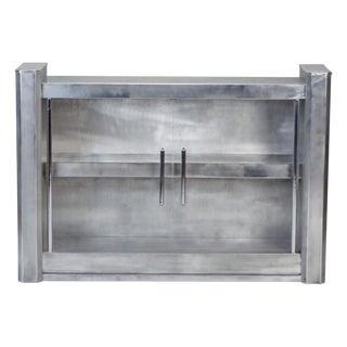Mid-Century Aluminum Industrial Display Cabinet