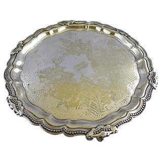 Antique Nickel Plated Silver Tray
