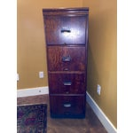 Image of Early 1900s Oak Lawyer's Filing Cabinet