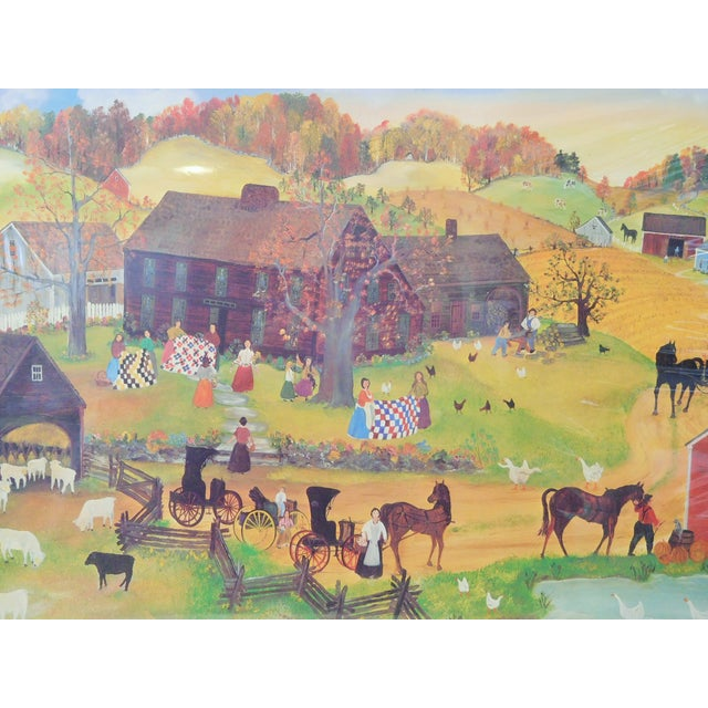Will Moses Quilting Social Signed Serigraph - Image 1 of 4