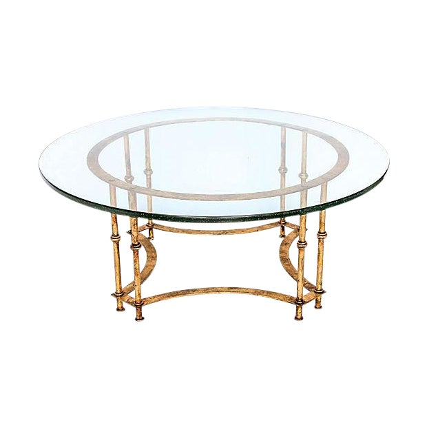 Image of Gilded Faux Bamboo Coffee Table