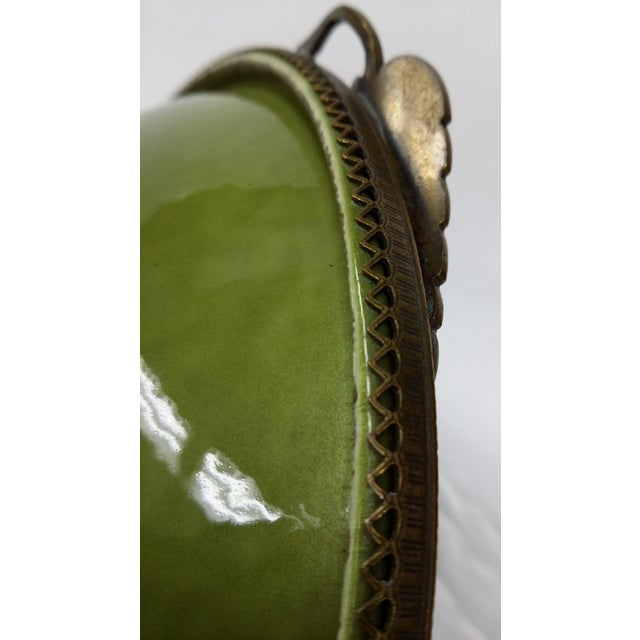 Enameled Evans Green Ashtray - Image 6 of 7