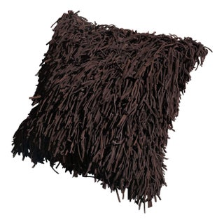 Leather Fringe Pillow