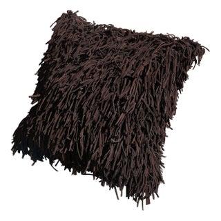 Leather Fringe Pillow