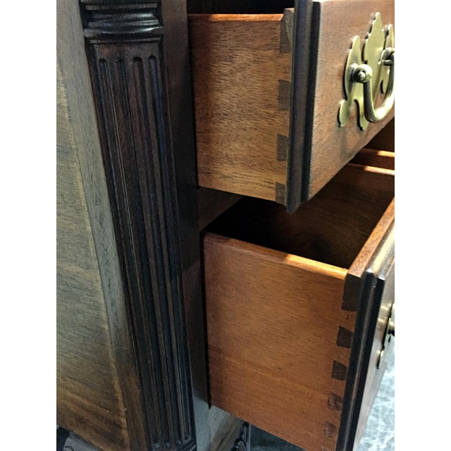 Wellington Hall Mahogany Chippendale Style Low Boy Chest - Image 6 of 11
