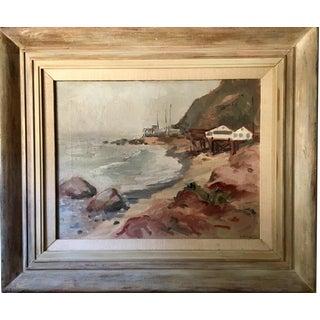 """Vintage """"Malibu"""" Oil Painting"""