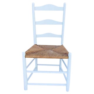 Rush Seat Painted Country Chair
