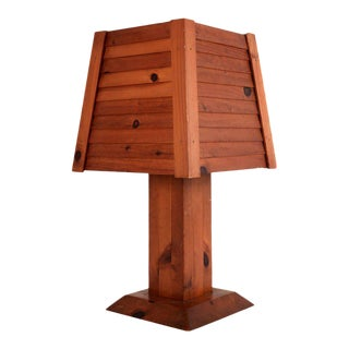 Large Scale Cabin Inspired Table Lamp