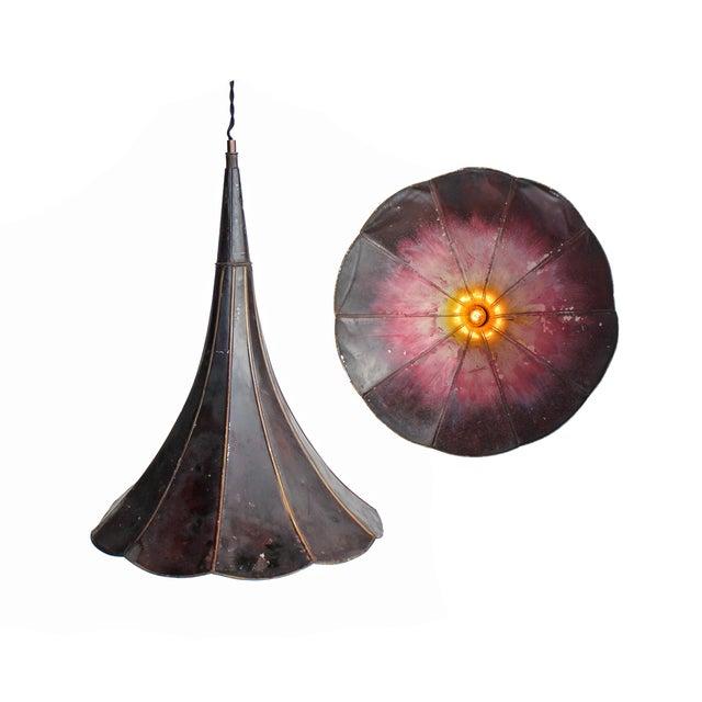 Image of Repurposed Purple Ombre Gramophone Pendant Light