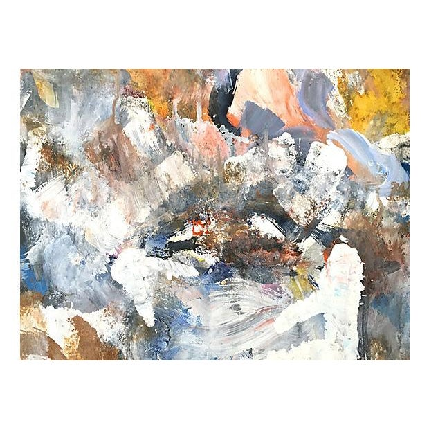 Image of Harold Davies Abstract Modernist Oil Painting