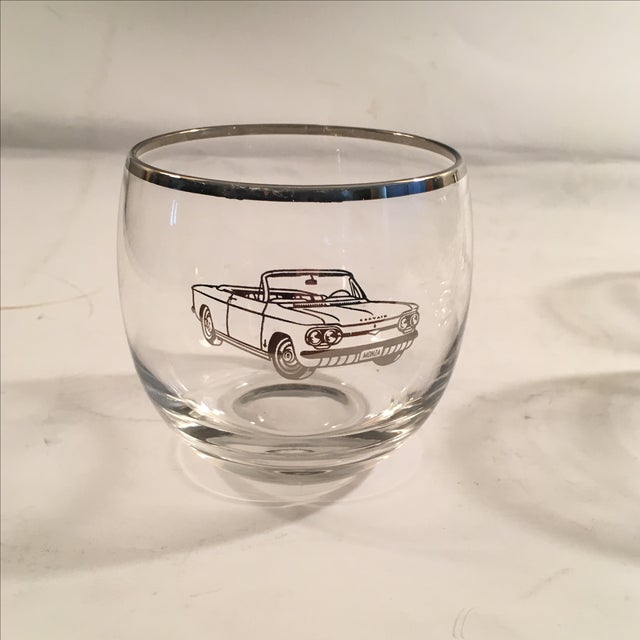Classic 60's Chevy Roly Poly Glasses - Set of 5 - Image 5 of 5