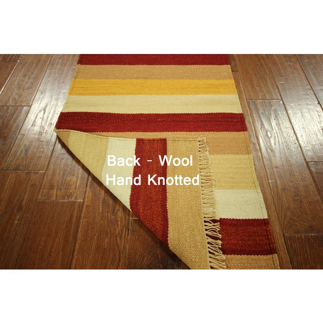 "Vegetable Dyed Navajo Style Kilim Rug - 2' x 4'3"" - Image 5 of 5"