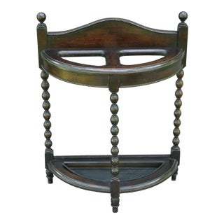 Antique Oak Stick & Umbrella Stand