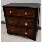 Image of Vintage Repurposed Black Painted Small Chest