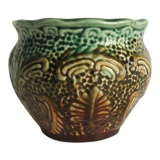Victorian Majolica Jardiniere Pottery