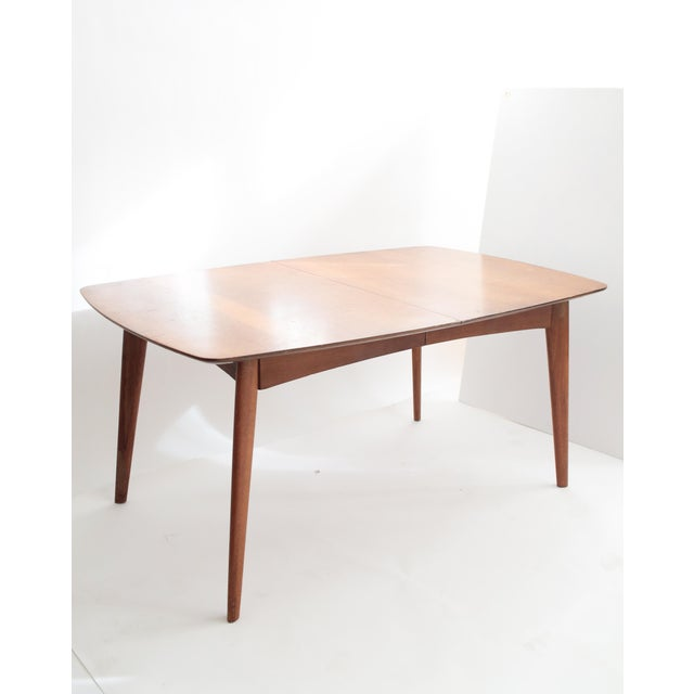 Wooden Mid Century Modern Expandable Dining Table - Image 2 of 5