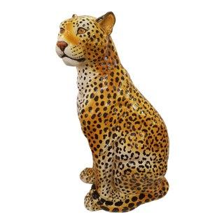 Mid-Century Modern Italian Ceramic Leopard