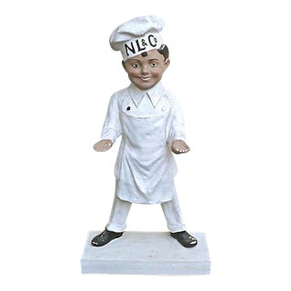 Vintage French Chef Advertising Statue