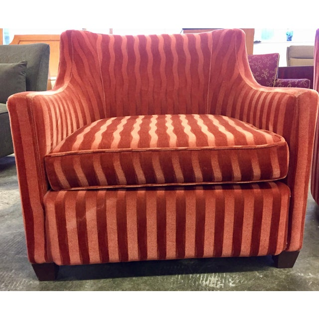 Red Candy Stripe Club Chairs A Pair Chairish