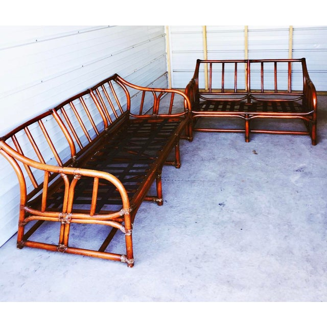 Ficks Reed Bamboo Sofa - Image 6 of 6