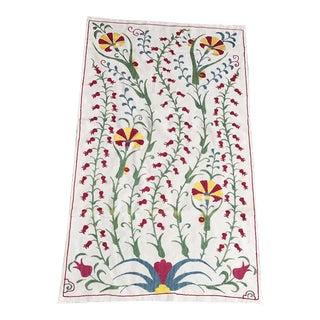 Cotton & Silk Floral Runner