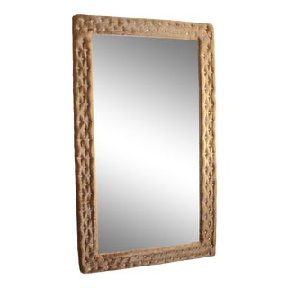 Crushed Velvet Tufted Mirror