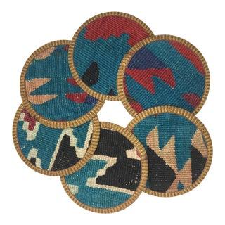 Kilim Coasters Set of 6 | Ece