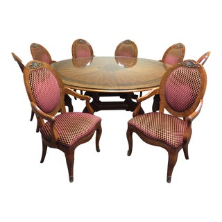 Henredon Grand Provenance Round Dining Table & Chairs
