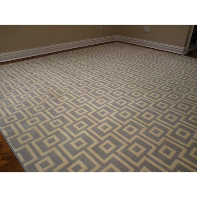 Abc carpet modern geometric rug 9 4 10 chairish for Abc carpet outlet sale