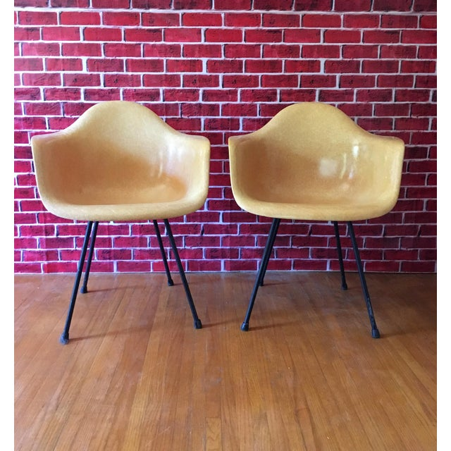 1950's Herman Miller Eames Molded Fiberglass Chairs - A Pair - Image 2 of 11