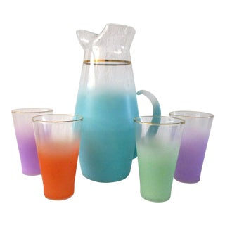 Blendo Mid-Century Fade Large Pitcher & Glasses - Set of 5